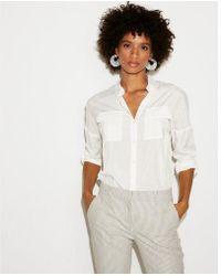 Express - Button Cold Shoulder City Shirt - Lyst