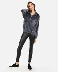 Express - One Eleven Oversized Velour Hoodie - Lyst