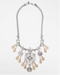 Express | Encrusted Filigree Statement Necklace | Lyst