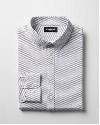 Express - Slim Small Dot Wrinkle-resistant Performance Dress Shirt - Lyst