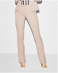 Express - Mid Rise Striped Barely Boot Columnist Pant - Lyst
