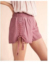 Express - Braided Lace-up Shorts - Lyst