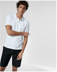 Express - Stretch Tipped Collar Small Lion Polo - Lyst