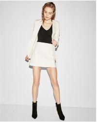 Express - High Waisted Clean A-line Mini Skirt - Lyst