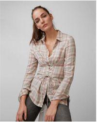 Express - Flannel Corset Shirt - Lyst