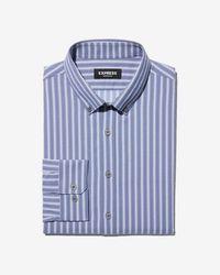Express - Slim Striped Wrinkle-resistant Performance Dress Shirt - Lyst