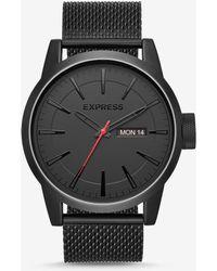 Express - Empire Black Mesh Strap Muti-function Watch - Lyst