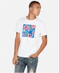 Express - Exp Nyc Tropical Graphic Tee - Lyst