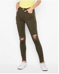 Express - High Waisted Ripped Supersoft Leggings - Lyst
