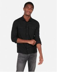 Express - Wrinkle-resistant Performance Double Pocket Military Polo - Lyst
