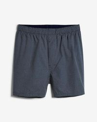 Express - Geometric Print Covered Waistband Woven Boxers - Lyst