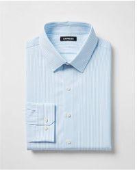 Express - Classic Striped Cotton Point Collar Dress Shirt - Lyst