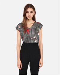 Express - Floral Gingham Gramercy Tee - Lyst