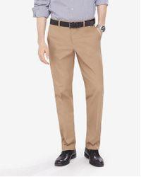 Express - Men's Classic Khaki Stretch Cotton Dress Pant - Lyst