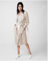 Express - Soft Drape Trench Coat - Lyst