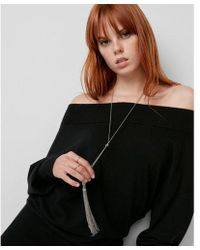 Express   Double Tassel Lariat Y-neck Necklace   Lyst