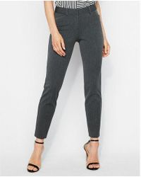 Express - Mid Rise Ankle Publicist Pant - Lyst