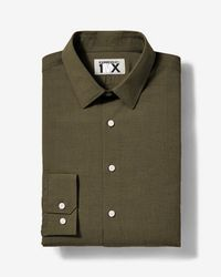 Express - Slim Easy Care Textured 1mx Shirt - Lyst