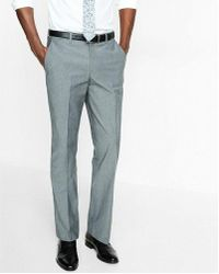 Express - Classic Chambray Stretch Cotton Dress Pant - Lyst