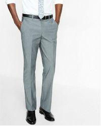 Express - Men's Classic Chambray Stretch Cotton Dress Pant - Lyst