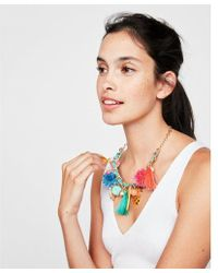 Express - Pineapple Pom Statement Necklace - Lyst