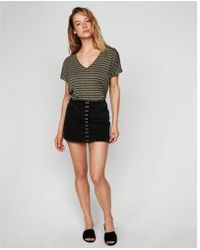 Express - One Eleven Striped V-neck London Tee - Lyst