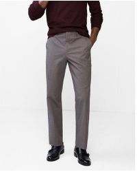 Express - Men's Relaxed Stretch Cotton Blend Heathered Dress Pant - Lyst