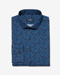 Express - Extra Slim Floral Button-down Dress Shirt - Lyst
