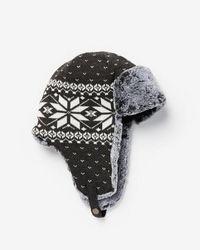 Express - Fair Isle Trapper Hat - Lyst