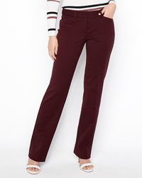 Express - Low Rise Barely Boot Editor Pant Red - Lyst