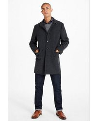 Express - Textured Wool-blend Twill Topcoat - Lyst