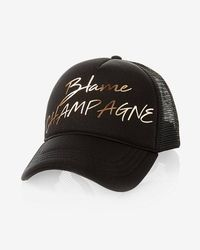 Express - Me Champagne Trucker Hat - Lyst