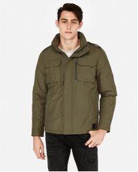 Express - Nylon Five Pocket Jacket - Lyst
