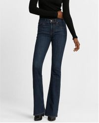 Express - Mid Rise Stretch Bootcut Jeans, Women's Size:00 Short - Lyst