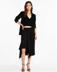 Express - High Waisted Polka Dot Jacquard Pencil Skirt - Lyst