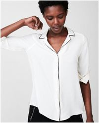 Express - Piped Pajama Collar Shirt - Lyst