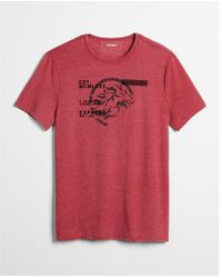 Express - French Terry Lion Graphic Tee - Lyst