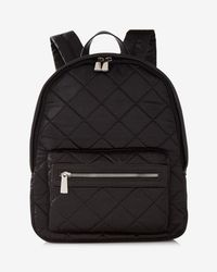 Express - Quilted Satin Backpack - Lyst