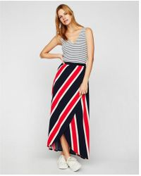 Express - Wrap Front Maxi Skirt - Lyst