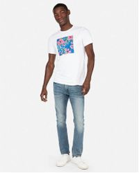 Express - Tropical Graphic Tee - Lyst