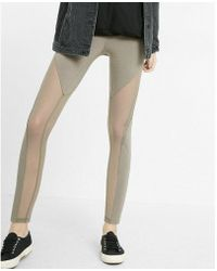 Express - Mid Rise Sexy Stretch Cut-out Mesh Leggings - Lyst