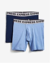 Express - 2 Pack Ribbed Cotton Boxer Briefs - Lyst