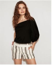 Express - Solid One Shoulder Blouse - Lyst