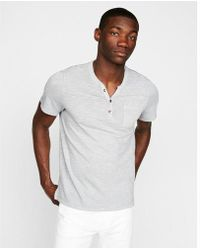 Express - Ment Dyed Short Sleeve Henley - Lyst