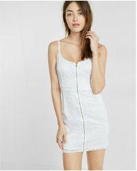 Express - Pieced Lace Zip Sheath Dress - Lyst