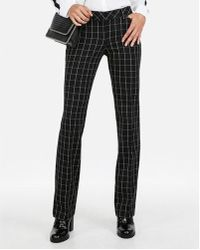Express - Low Rise Windowpane Barely Boot Editor Pant - Lyst