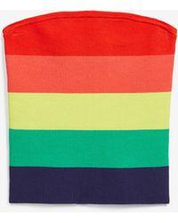 Express - Love Unites Pride Striped Rainbow Sweater Tube Top Multi Unisex Xxs - Lyst