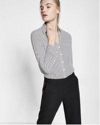 Express - Original Fit Small Dot Print Portofino Shirt - Lyst