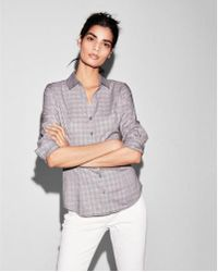 Express - Plaid Long Sleeve Essential Shirt - Lyst