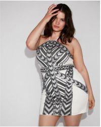 Express - Sequin Halter Dress - Lyst